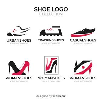 Colección moderna de logos de zapato