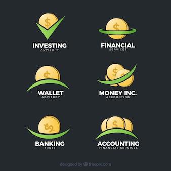 Colección moderna de plantillas de logotipos de dinero