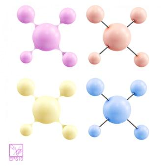 Colección de moléculas químicas