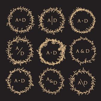 Colección de monograma de boda