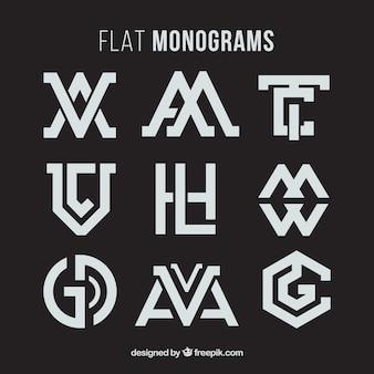 Colección de monogramas abstractos