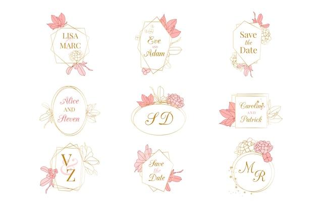 Colección de monogramas de bodas