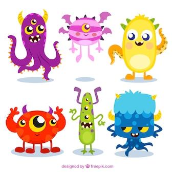Colección monstruos coloridos