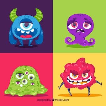 Colección de monstruos coloridos