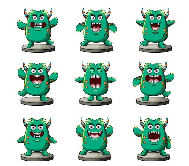 Colección de monstruos divertidos
