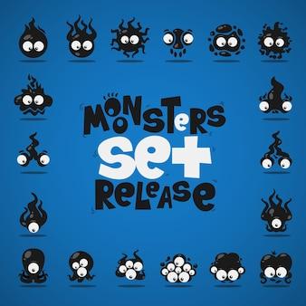 Colección de monstruos negros