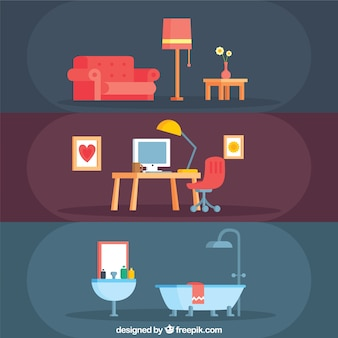 Colección de muebles de hogar