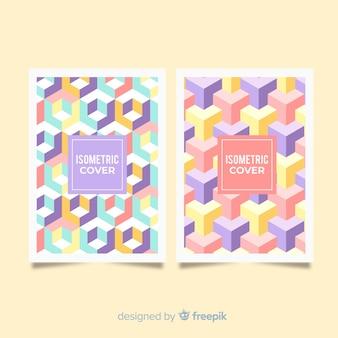 Colección muestras de folletos patrón isométrico