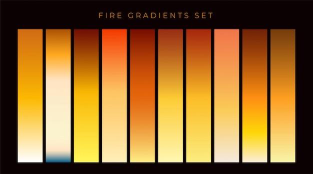 Colección de muestras de gradiente de fuego