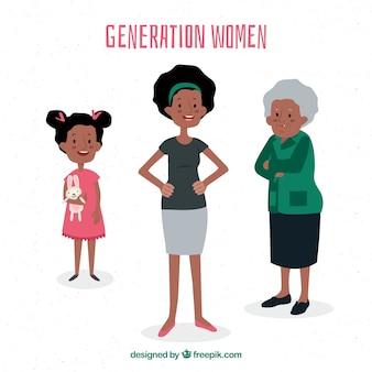 Colección de mujeres negras de diferentes edades