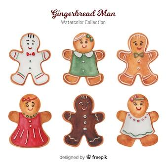 Colección de muñecos de galleta de jengibre