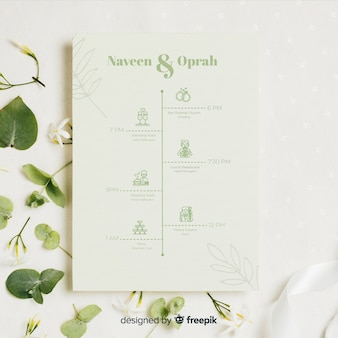 Colección natural de iconos de boda