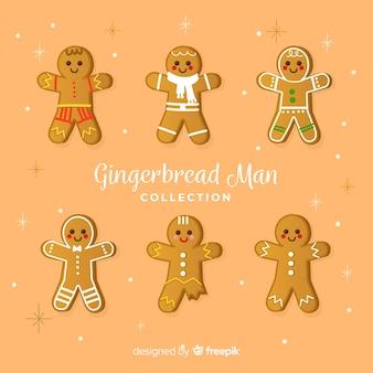 Colección navidad galletas hombre pan de jengibre