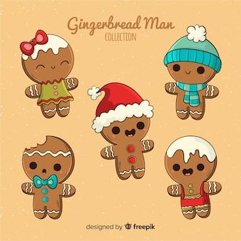 Colección navidad galletas pan de jengibre dibujo animado