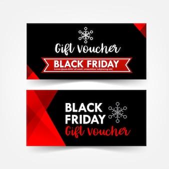 Colección de navidad negro viernes regalo vale etiqueta web banner promoción