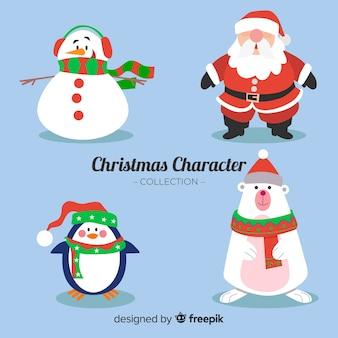 Colección navidad personajes dibujados a mano
