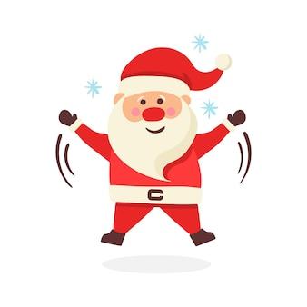 Colección de navidad santa claus. conjunto de divertidos personajes de dibujos animados
