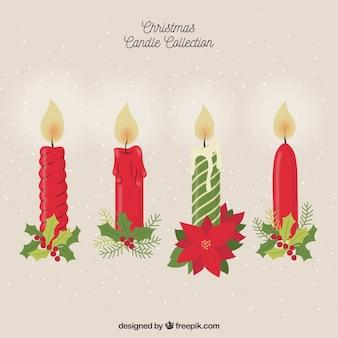 Colección navideña vintage de velas