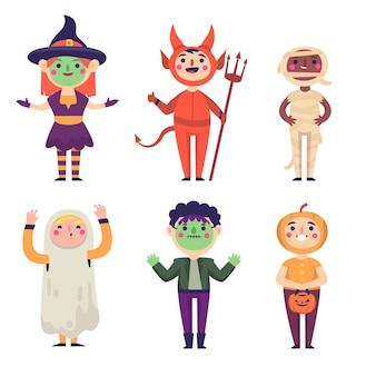 Colección de niños de halloween