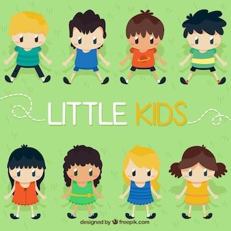 Colección de niños pequeños