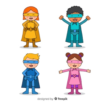 Colección de niños superheroes