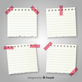 Colección de notas en estilo realista
