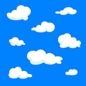 Colección nube dibujada a mano