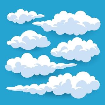 Colección de nubes de dibujos animados