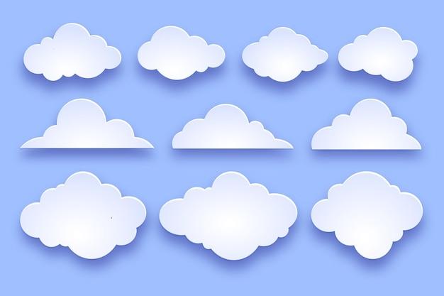 Colección nubes planas