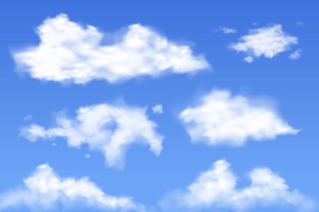 Colección de nubes realistas