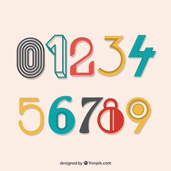 Colección de número vintage
