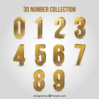 Colección de números en 3d