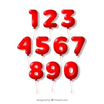 Colección de números rojos