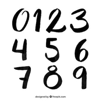 Colección de números de tinta