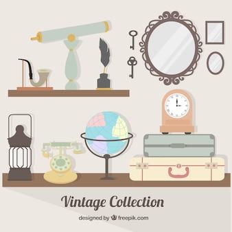 Colección de objetos antigüos