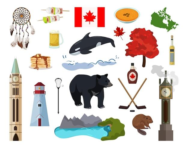Colección de objetos de canadá