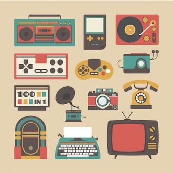 Colección de objetos vintage