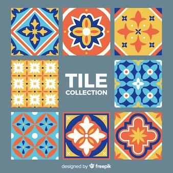 Colección de ocho azulejos