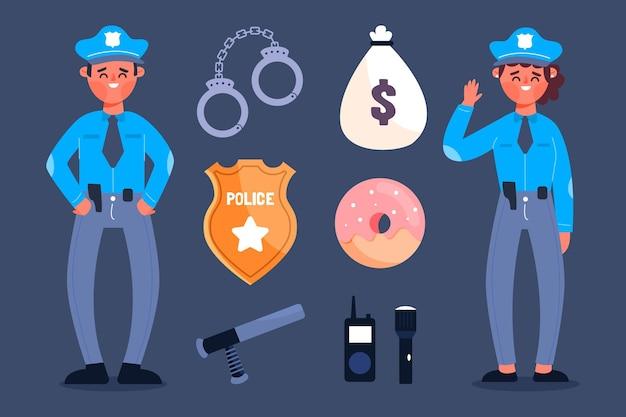 Colección de oficiales de policía
