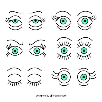 Colección de ojos expresivos