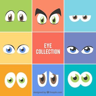 Colección de ojos de personajes de dibujos