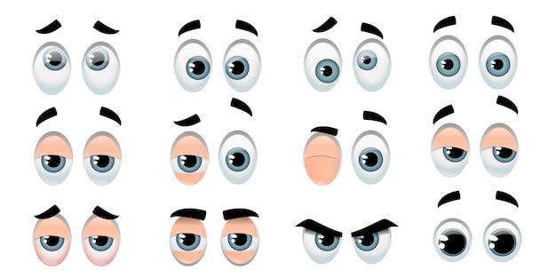 Colección de ojos que representan expresiones variadas