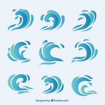 Colección de olas abstractas