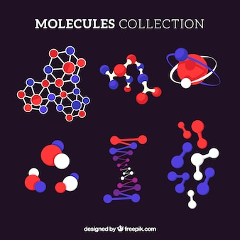 Colección original de moléculas planas