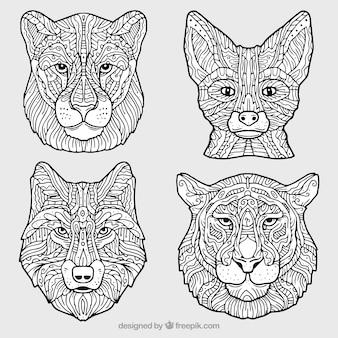 Colección ornamental de animales decorativos