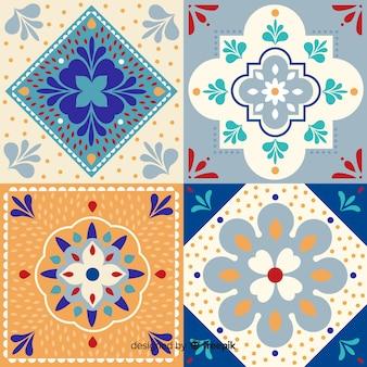 Colección ornamental de azulejos