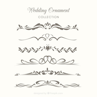 Colección de ornamentos de boda para decorar