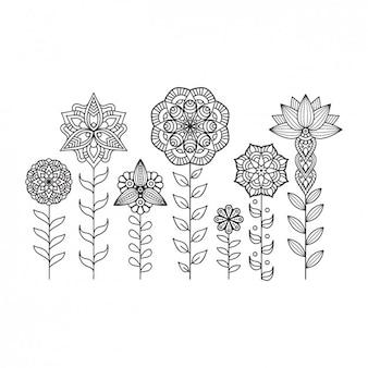 Colección de ornamentos de estilo boho
