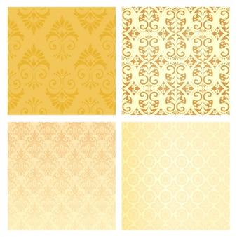 Colección de ornamentos vintage amarillos