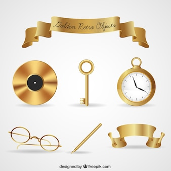 Colección de oro objeto de la vendimia